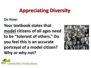 Appreciating Diversity