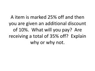 Shopping Questions