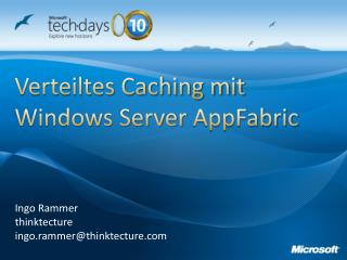 Verteiltes Caching mit Windows Server  AppFabric