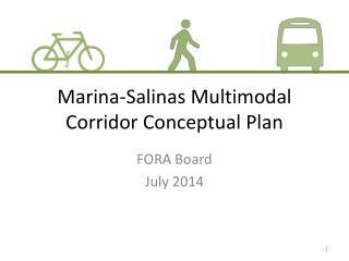 Marina-Salinas Multimodal Corridor Conceptual Plan