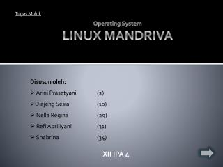 Operating System LINUX MANDRIVA