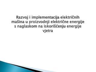 Konverzija energije vjetra u mehaničku