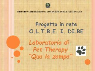 Progetto in rete  O.L.T.R.E.  I.  DI.RE