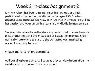 Week 3 In-class Assignment 2
