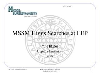 MSSM Higgs Searches at LEP