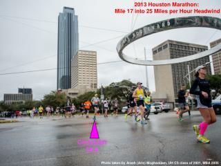 2013 Houston Marathon:  Mile 17 into 25 Miles per Hour Headwind