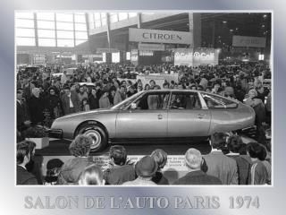 SALON DE L'AUTO PARIS  1974