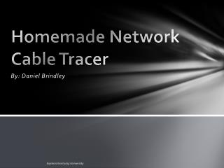 Homemade Network Cable Tracer