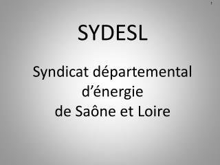 SYDESL  Syndicat d partemental d  nergie  de Sa ne et Loire