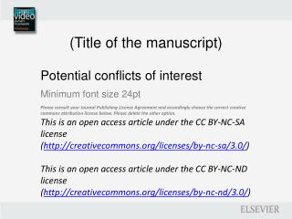 (Title of  the manuscript )
