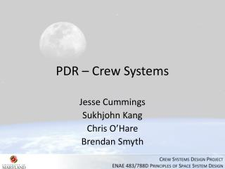 PDR – Crew Systems