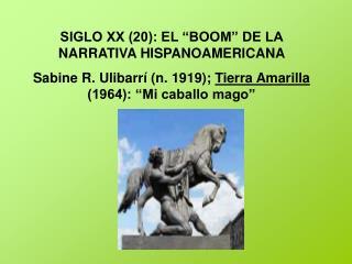 """SIGLO XX (20): EL """"BOOM"""" DE LA NARRATIVA HISPANOAMERICANA"""