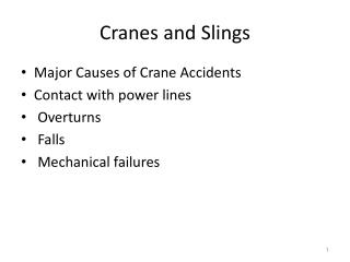 Cranes and Slings