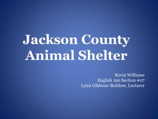 Jackson County Animal Shelter