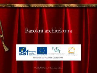 Barokn� architektura