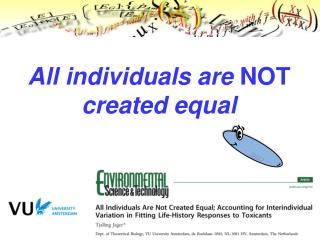 All individuals are  NOT  created equal