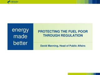 PROTECTING THE FUEL POOR THROUGH REGULATION