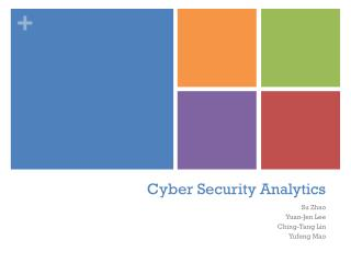 Cyber Security Analytics