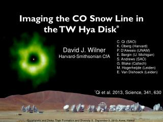 Imaging the CO Snow Line in the TW  Hya  Disk *
