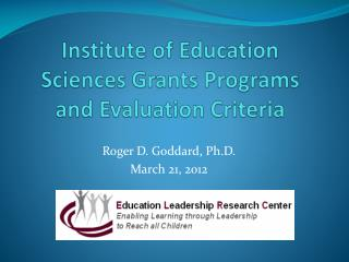 Institute of Education Sciences Grants Programs and Evaluation Criteria