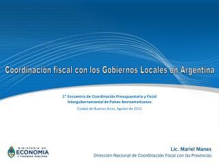 1° Encuentro de Coordinación Presupuestaria y Fiscal  Intergubernamental de Países Iberoamericanos
