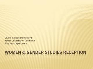 Women & Gender Studies Reception