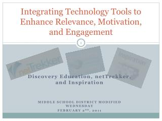 Integrating Technology Tools to Enhance Relevance, Motivation, and Engagement