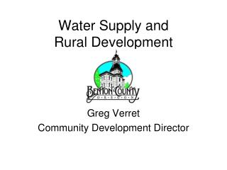 Water Supply and Rural Development