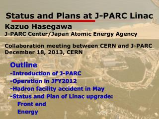 Status and  Plans  at  J-PARC Linac