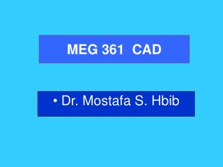 MEG 361  CAD