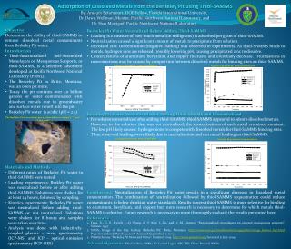 Adsorption of Dissolved  Metals  from the Berkeley Pit using Thiol-SAMMS