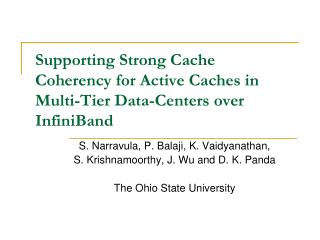 Supporting Strong Cache Coherency for Active Caches in Multi-Tier Data-Centers over InfiniBand