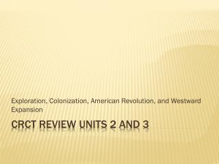 CRCT Review Units 2 and 3