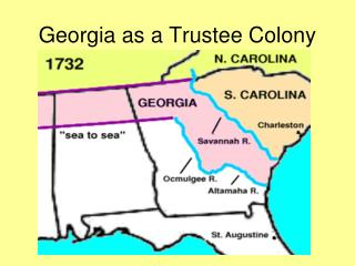 Georgia as a Trustee Colony