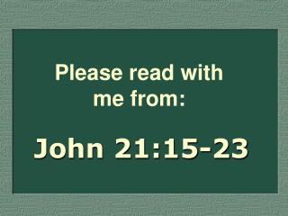 John 21:15-23