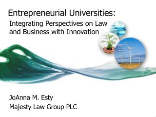 Entrepreneurial Universities :