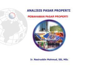 Ir. Nasiruddin Mahmud, SSi, MSc