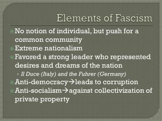 Elements of Fascism