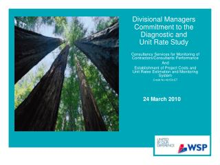 Divisional Managers Commitment to the Diagnostic and  Unit Rate Study