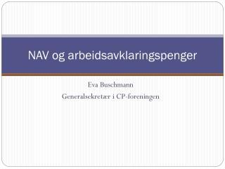 NAV og arbeidsavklaringspenger