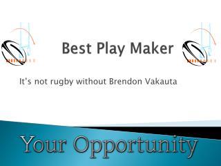 Best Play Maker