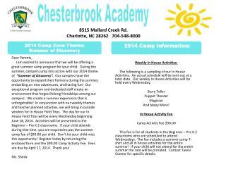 8515 Mallard Creek Rd.  Charlotte, NC 28262   704-548-8000