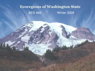 Ecoregions of Washington State