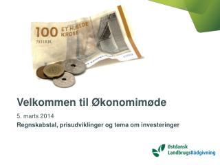 Velkommen til Økonomimøde