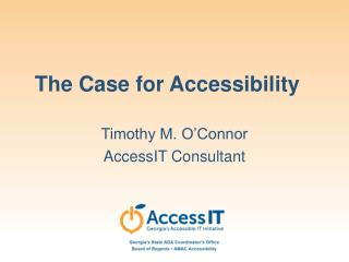 The Case for Accessibility