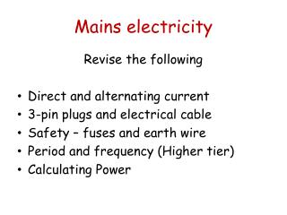 Mains electricity