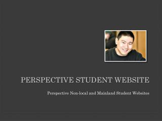 Perspective Student Website