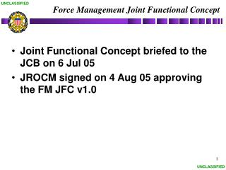 Force Management Joint Functional Concept