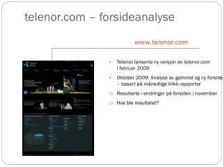 telenor –  forsideanalyse