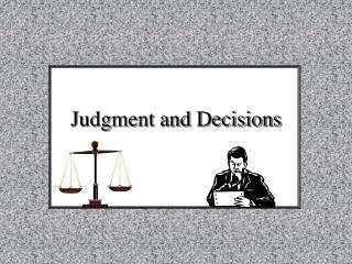 Judgment and Decisions